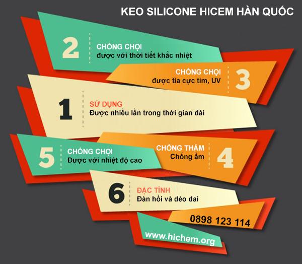 Một vài ưu điểm khi dùng keo silicone Hichem