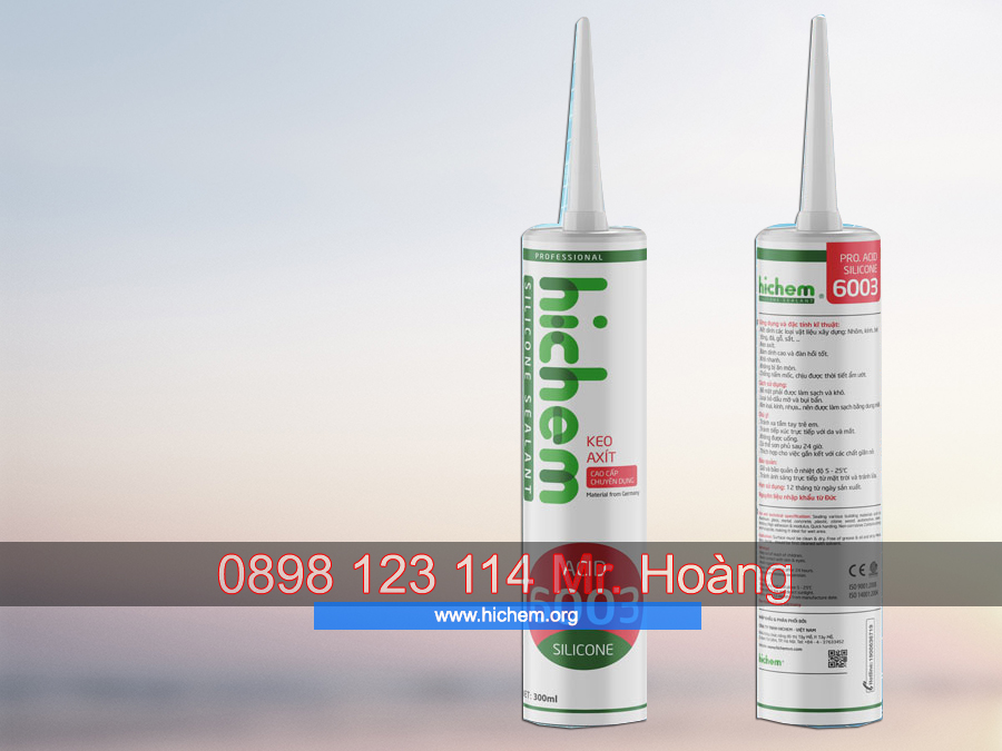 Keo dán silicone chống thấm axit cao cấp Hichem 6003 3