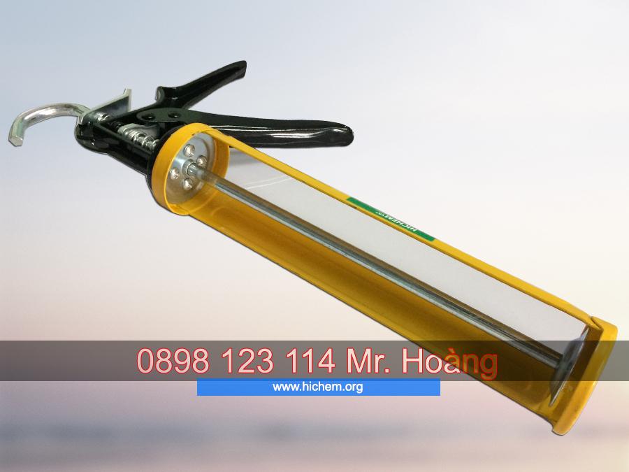 Súng bắn trét keo silicone Hichem H101 chuyên dùng 3
