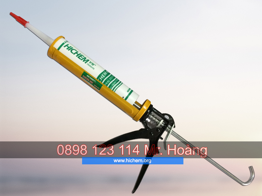 Súng bắn trét keo silicone Hichem H101 chuyên dùng 5